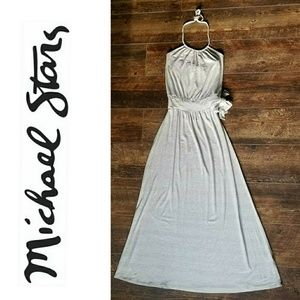 Michael Stars halter maxi dress XS EUC like new
